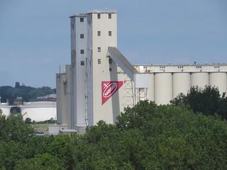 Nabisco flour mill along the Maumee River, Toledo, Ohio