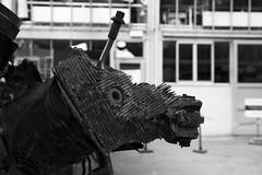 I'm A Unicorn ! (Ren-s) Tags: canon eos 600d 1750mm sigma noir blanc nb noiretblanc noirblanc black white bnw bw blackandwhite blackwhite street rue streetphotography photographiederue museum musée licorne unicorn moteur avion plane engine broken cassé métal metal corne horn oeil eye bouche mouth bokeh flou contrast contraste city new towncenter ville bruxelles brussels belgique belgium europe radiateur radiator exploded explosé 7dwf