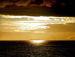 Ship that passed in the night (hogsvilleBrit) Tags: azamara17 norway sun midnightsun tanker oiltanker ship gold symmetry 6ws sixwordstory