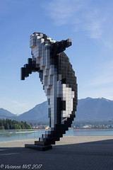 8-bit Orca (SF knitter) Tags: britishcolumbia canada conventioncenter vancouver killerwhale orca sculpture