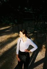 (louis de champs) Tags: olympusxa2 kodakportra160 portrait lesbatignolles paris sunset sunray