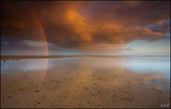 Golden rainbow (katepedley) Tags: fiji south pacific tropics tropical melanesia viti levu korotoga sigatoka coral coast outrigger resort beach sunset evening dusk