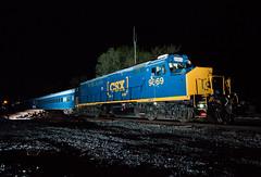CSX 9969 Troy, OH (Wheelnrail) Tags: csx csxt 9969 gp40 geometry train trains railroad rail road locomotive emd passenger troy ohio toledo subdivision night flash photography