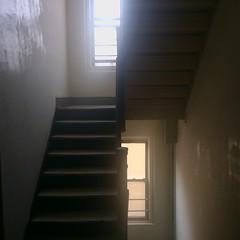 Equivalency (MPnormaleye) Tags: moody urban shadows iphone utata stairs windows empty basic stark hallway