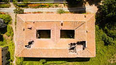 Roof holes (Jacopo Marcovaldi) Tags: roof hole holes buchi tetto cascine tavola prato toscana tuscany italia italy above alto aerial aeree aerea dji phantom phantom3 advanced drone