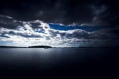 Blue feeling (Larson.patrik) Tags: dalarö stockholm sweden blue sea water boat sail contrast dark colour light canon cloud silent beautiful