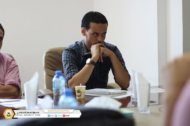الاجتماع التقابلي الأول لإدارة المعاشات والمركز الليبي للاستشارات