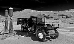 Vintage Truck & Gas Pumps - Bodie, CA (9/13/2009) (rbb32) Tags: bodie blackwhite
