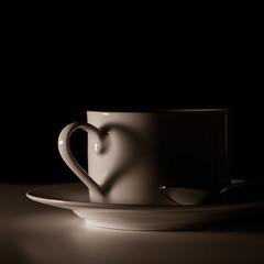 Kaffeeliebe (juergenkuehberger) Tags: kaffee coffee herz lichtundschatten licht schatten