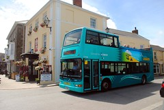 Atlantic Coaster A3 bus in St Just (zawtowers) Tags: cornwall kernow summer holiday break vacation july 2017 st just lannust monday 17th sunny afternoon most westerly town united kingdom centre penwith peninsula atlantic coaster a3 bus first former 300 route open top deck