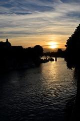 Paris (geraldineh.dutilly) Tags: paris seine river water sunset colors light sky