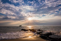 Cape May, NJ - Sunset Point (Dante Fratto Photography) Tags: beach beaches capemay capemaysunsetpoint concreteship jerseyshore newjersey ocean ssatlantus seascapes southjersey summer sun sunsetpoint water clouds sunset waves wwwdantefrattocom wwwdantefrattophotographycom