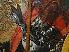 ca. 1480 - 'Crucifixion', Colmar, Musée Unterlinden, Colmar, dép. Haut-Rhin, France (RO EL (Roel Renmans)) Tags: 1480 ca crucifixion kreuzigung jesus christ painting gothic colmar museum musée unterlinden alsace elzas elsass armour armor armure armadura museo armatura gotico german allemand tedesco harnas harnisch rüstung gothique lance deutsch cape soldier angels cross kreuz croix soldat ritter knight chevalier ridder honderdman