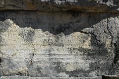 0014 Shrine of Asclepius, Dedications,  Butrint (2) (tobeytravels) Tags: albania butrint buthrotum illyrian shrine asclepius temple dedications inscriptions wall