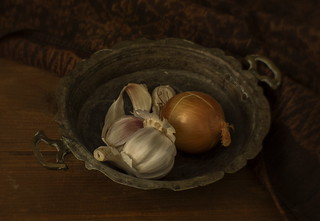 Still Life with Garlic and Onion