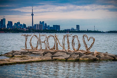 Toronto ♥️ (A Great Capture) Tags: driftwood urbannature city skyline cntower westend park humberbay water lake lakeontario pier art nature sign toronto theliasandersshelton julieryan