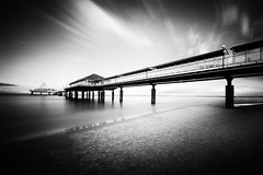 baltic sea (O l l i . B .) Tags: seebrücke pier noir meckpom blanc black white schwarzweis schwarz weis blackwhite heringsdorf ostsee deutschland germany meer sea strand beach sand water ndfilter longexposure bwnd30 canoneos5dmkii canonef1740mm40l ollib oliverbuchmann fineart