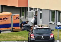 New Neighbors (Linnea from Sweden) Tags: nikon d7000 nikkor afs 70300mm 4556g ifed vr new people street car vehicle truck building door neighbor