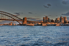 winter sunset over sydney (Greg Rohan) Tags: sydneyharbourbridge skyscrapers harbourbridge operahouse sydneyharbour shadow rusty orange sunset sydneyskyline cityscape sydney d7200 2017