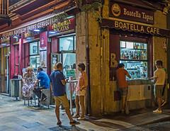 Night Eating Valencian Style ( La Boatella Tapas Bar) (Olympus OM-D EM1-II & Panasonic Lumix 20mm f1.7 Prime) (1 of 1) (markdbaynham) Tags: people candid street lowlight la boatella tapas urban metropolis valencia food spain spainish es espana vlc espanol comida olympus omd em1 em1mk2 em1ii csc mirrorless evil mft m43 micro43 micro43rd m43rd panasonic lumix lumixer 20mm f17 pancake prime valenciacanibal
