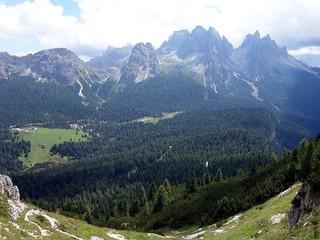 View into the Val de Rinbianco from Rifugio Bosi