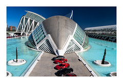 Calatrava & Ferrari (Olivier Faugeras) Tags: citédesartsetdessciences ciudaddelasartesylasciencias santiagocalatrava valence valencia ferrari calatrava spain espagne pentax cars auto