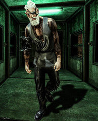 Desolation (Migan Forder) Tags: scifi cyborg male beard space lonely fantasy