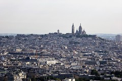 Sacré Coeur viewed from the Eiffel Tower (Muddy LaBoue) Tags: iledefrance monuments towers iconicarchitecture 1889 2017 july worldexposition eiffeltower paris france attractions tourism panasoniclumixdmctz60 summer city tower architecture sacré sacrecoeur basilica