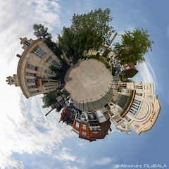 "My 1st ""little planet"" panorama (Alexandre D_) Tags: canon eos 70d france french billymontigny nord pasdecalais hautsdefrance europe panorama littlebigplanet littleplanet 360° planet fun funny fisheye samyang 8mmfisheye samyang8mmf35fisheye city ville street smallplanet tinyplanet test landscape cityscape"