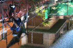 Lavori in corso (meghimeg) Tags: 2017 armaditaggia pistaciclabile lavori riflesso reflession spiegel ciclista biker bicicletta bici bike acqua water pozzanghera puddle
