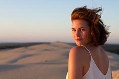 Lea (Sarah Joy L.) Tags: girl france woman beach atlantic dune sand arcachon bordeaux canon7d canon 50mm sunset summer holiday vacation travel portrait photoshoot photography