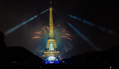 Feu Du0027artifice Du 14 Juillet 2017 Depuis Le Champ De Mars à Paris,