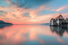 Moment (BeNowMeHere) Tags: ifttt 500px sky landscape lake sea sunset water reflection travel clouds colors evening moment dawn cloud trip colorful outdoors dusk colourful suisse longexposure nightscape panaromic no person nature lac switzerland colours castle night peace montreux panaroma magic chateau de chillon benowmehere