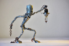 The escape (Vortex67) Tags: art metal handmade sculpture recycled robot craft