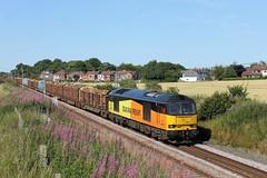 "Golborne Dale (""Jumper"") Tags: 60026 williamcaxton colas colasfreight logtrain logs timber train class60 tug"