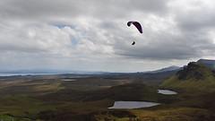 Skyefall.. (Harleynik Rides Again.) Tags: skyescape isleofskye skyfall thequiraing paraglider cloudporn harleynikridesagain nikond810 naturallight