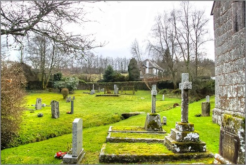 Cemetery, Church of the Holy Trinity, Gidleigh, Devon, England UK