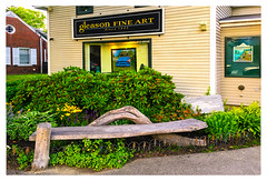 gleason fine art (Timothy Valentine) Tags: 2017 0717 artwork vacation bench monday boothbayharbor maine unitedstates us