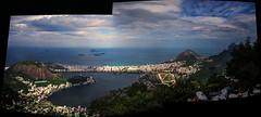 Rio de Janeiro Landscape (Angelo Petrozza) Tags: riodejaneiro landscape autostitch brasile brazil brasil sky copagabana cielo spiaggia sea angelopetrozza pentaxk70 1855mm clouds nuvole baia