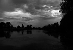Dark water (François Tomasi) Tags: françoistomasi blackandwhite noiretblanc eau water clouds cloud nuages nuage sky dark sombre arbres arbre trees tree yahoo google flickr pointdevue pointofview pov light lumière landscape nature touraine indreetloire france europe nikon reflex photo photographie photography photoshop juillet 2017