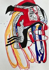 Jim Harris: Hjälm (Jim Harris: Artist.) Tags: dessin art drawing helmet technology technik