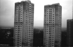 towers / Minox 35PL & Ilford Pan 100 (Shtani v Getri) Tags: minox pl 35 35pl compact camera club japan moscow cccp lifestyle mood bw bnw black white home develop roll film iso 100 pan pan100 ilford best top boobs for life like love shoot buy old analog photography