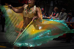 Iridescent Wings (Stefan Schafer) Tags: sanfrancisco dancing colorful streetscene