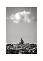 _Cloud above Saint Peter_ (michele gandolfi) Tags: roma rome vatican vaticancity architecture cloud sun saintpeter church chiesa sole nuvola blackandwithe bw art picture photo trip journey viaggio holiday vacanza vacanze summer estate vacation