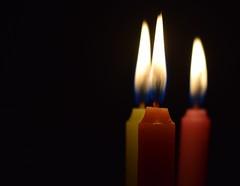 """Three times better ! (Sriini) Tags: abitoforder order light candle flickrfriday """"macromondays"""" """"three 3 three threeofakind"""