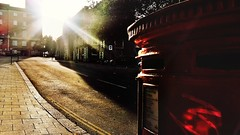 20170717_191009-02-Gaol Hill-Norwich-UK (suzyhazelwood) Tags: gaolhill norwich norfolk uk postbox sunlight roads streets streetphotography street samsung s4mini summer city creativecommons cell phone photography