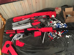 Little bit or rework and detailing to do and she will be ready to pick up! And then video. (Danger Close Lego Creations) Tags: lego rwby gun legogun lifesize scythe rubyrose crescentrose