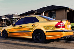 AMGoldie (fe2cruz) Tags: gold chrome amg mercedes benz blackrims blackedoutbadges blackedoutgrill blackedout lowered dropped shiny sportssedan saloon 4door spoiler
