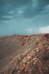Storm above the meteor crater, Arizona (kremacnipec) Tags: arizona meteor crater usa landscape storm lightning