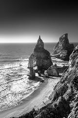 Praia da Ursa (p_v a l d i v i e s o) Tags: 24105mm 5d3 canon5d canon5dmk3 canonef24105mmf4lisusm canoneos5dmarkiii ef24105mmf4 sintra bw bandw beach blackwhite blackandwhite blancetnoir blancoynegro cliff colares monochrome monocromatico monocromatique monocromático pretoebranco surf wild portugal